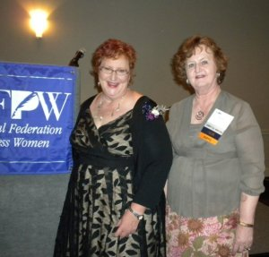 NFPW members Cecilia Green, right and daughter, Jill Miller.